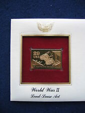 1991 WWII World War II Lend Lease Act 22kt Gold GOLDEN Replica FDC Cover STAMP