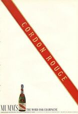 1966 Cordon Rouge Brut French Vintage Mumm's Extra Dry Champagne PRINT AD