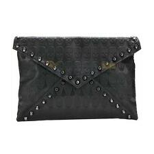 XD#3 New Punk Skull Spike Envelope Women Lady Leather Clutch Handbag Bag Tote