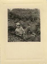 PHOTO ANCIENNE - VINTAGE SNAPSHOT - MILITAIRE ALGÉRIE 11ÈME RIC HOMME FUSIL 1958