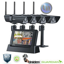 UNIDEN Digital Wireless Surveillance System - 4 x Weatherproof Cameras - Wireles
