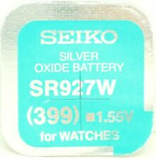 Seiko 399 (SR927W) Silver Oxide (0%Hg) Mercury Free Watch Battery Made in Japan