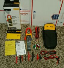 NEW FLUKE 374 FC True-rms AC/DC 600A Wireless Clamp EXTRA LEADS! 375 376 381 87V