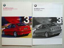 Prospekt BMW 3er E 36 compact  (316i, 323ti, 318 tds), 1.2000, 44 S. +Preisliste