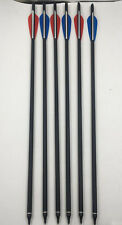 """3x Red+3x Blue 20"""" Carbon Arrows Shaft Crossbow Bolts Archery 8.8mm OD Target"""