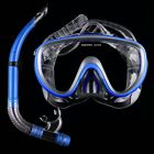 Blue Swimming Mask Diving Equipment Anti Fog Goggles Scuba Mask Snorkel Glasses