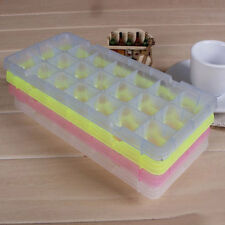 21 Cell Ice Cube Square Tray Freeze Mold Candy Frozen Maker DIY Multi Color