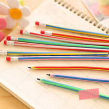 3pcs/lot Colorful Magic Bendy Flexible Soft Pencil With Eraser Gift Kids Writing