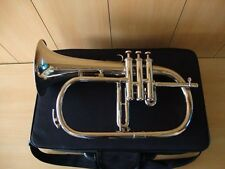 **DAZZLING OSWAL! New Silver Bb Flugel Horn With Free Hard Case+Mouthpiece