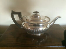 LOVELY ANTIQUE GADROONED AND BEADED RIMMED SILVER PLATED TEAPOT  (SPTP 9694)