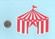 """Circus Tent Die Cut - Circus Die Cut - 4"""" tall - Carnival Die Cut - Tent Die Cut"""