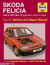 Haynes Car Workshop Repair Manual Skoda Felicia Petrol and Diesel (95 - 01) M to