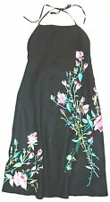 Embroidered Design ***FRENCH CONNECTION*** Ramie Cotton Halter Dress 8