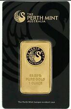 1 oz. Gold Bar - Perth Mint - 99.99 Fine in Assay