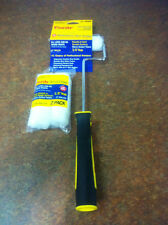 """Purdy COLOMBA BIANCA MINI RADIATORE PAINT ROLLER SYSTEM + 3 x 13mm RICARICHE 3/8 """"NAP"""