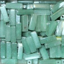 Aventurine Light Green Natural Stone Rectangle Drilled Loose Beads 13 MM (10)