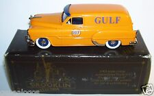 RARE BROOKLIN PONTIAC SEDAN DELIVERY GULF OIL 1953 JAUNE ORANGE REF 31  IN BOX a
