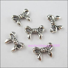 35Pcs New Charms Tibetan Silver Tone Bow-Knot Spacer Beads 10x13.5mm