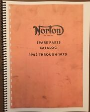 Norton Spare Parts Catalog 1963 - 1970 Vintage Motorcycle AHRMA Re-Print