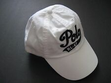 "POLO RALPH LAUREN Men's White Embroidered ""Polo RL-67"" Logo Chino Cap One Size"