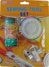 Sewing Set Threaded Thimble Pearl Pins Needle & Measuring Tape Set For Stitching