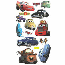 Disney Movie CARS Wall Stickers Boys Lightning McQueen Kids Bedroom Decor Decals