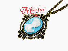 THE VAMPIRE DIARIES KATHERINE PIERCE 1864 VICTORIAN CAMEO PENDANT NECKLACE