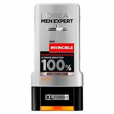 3 x L'Oreal Paris Men Expert Invincible Shower Gel 300ml