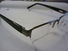 G-2045 Mens Frames Glasses Eyeglass Spectacle Black & Gun Metal G228