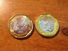 Singapore one 1 dollar coin - circulated 2013