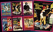 6 AMERICANA POP PARADE SAMMELBILDER UNGEKLEBT 1972 FILMPLAKATE GENRE MIX TOP