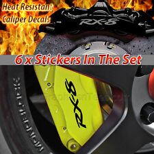 Rx8 Pinza de freno Decal Sticker, alquiler de gráfico de Vinilo Sticker Decal