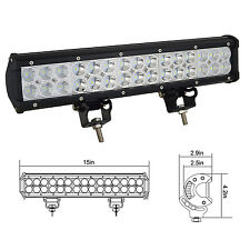 15inch 90W LED Flood Spot Combo Light Bar SUV ATV UTE Truck 4x4 Boat RV Jeep