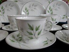 SHELLEY EVERGREEN (13892)- VINTAGE- CUP & SAUCER (S)- EXCELLENT! SILVER TRIM!