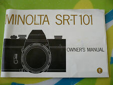 MINOLTA SR-T 101 CAMERA INSTRUCTIONS MANUAL