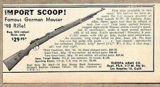 1955 Print Ad German Mauser '98 Bolt Action Rifles Europa Arms Los Angeles,CA