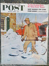 Saturday Evening Post  Magazine   March 1, 1958    *George Hughes*   GREAT ADS