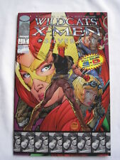 X-MEN / WILDCATS : THE SILVER AGE 3D ONE-SHOT by LOBDELL & LEE.MARVEL/IMAGE.1997