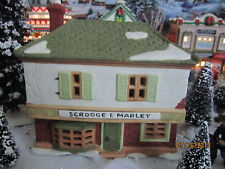 """DEPT 56 TRAIN HOUSE VILLAGE """"SCROOGE & MARLEY COUNTING"""" plus+ LEMAX INFO!"""