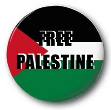 "FREE PALESTINE - 25mm 1"" Button Badge - Novelty Cute Protest FLAG"
