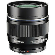 New Olympus M.Zuiko Digital ED 75mm f/1.8 Lens Black