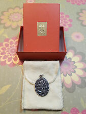 Retired James Avery Silver Oval Pendant Birds Two Doves / Boxed