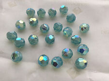 18 Swarovski #5000 8mm Crystal Pacific Opal AB Faceted Round Beads