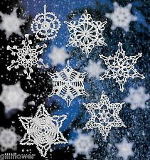 SNOWY FORECAST CHRISTMAS SNOWFLAKES -  VINTAGE CROCHET PATTERNS