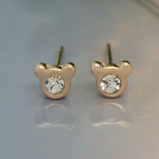 MICKEY Studs New Fashion Jewelry Rose Gold Crystal Mouse Stud Earrings @123.4