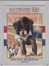 1991 Impel US Olympic Hall of Fame card #31 signed by Ralph Boston