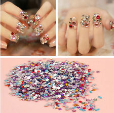 2000pcs Nail Art Mixed Shape Rhinestones Acrylic Decoration Flat back Gems u871