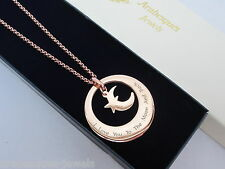 ARABESQUES JEWELS I LOVE YOU TO THE MOON & BACK CIRCLES NECKLACE/PENDANT AJSE