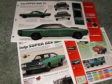1969 DODGE SUPER BEE 440 SPEC INFO POSTER BROCHURE AD SUPERBEE 69