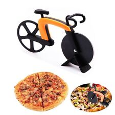 Bicycle Pizza Cutter Dual Non-stick Stainless Steel Bike Wheel Knife Slicer Arts